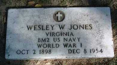 JONES, WESLEY W. - Yavapai County, Arizona | WESLEY W. JONES - Arizona Gravestone Photos