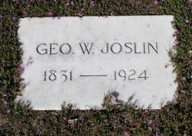 JOSLIN, GEORGE W. - Yavapai County, Arizona | GEORGE W. JOSLIN - Arizona Gravestone Photos