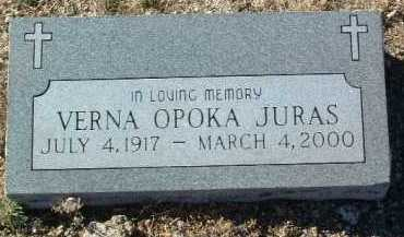 JURAS, VERNA OPOKA - Yavapai County, Arizona | VERNA OPOKA JURAS - Arizona Gravestone Photos