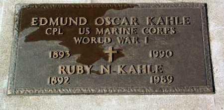 KAHLE, EDMUND OSCAR - Yavapai County, Arizona | EDMUND OSCAR KAHLE - Arizona Gravestone Photos