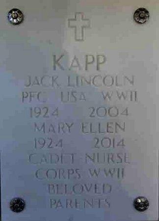 KAPP, MARY ELLEN - Yavapai County, Arizona | MARY ELLEN KAPP - Arizona Gravestone Photos