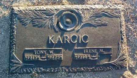 KARCIC, ANTON W. (TONY) - Yavapai County, Arizona | ANTON W. (TONY) KARCIC - Arizona Gravestone Photos