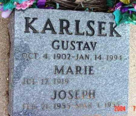 KARLSEK, GUSTAV - Yavapai County, Arizona | GUSTAV KARLSEK - Arizona Gravestone Photos