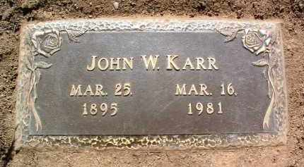 KARR, JOHN WALTER - Yavapai County, Arizona | JOHN WALTER KARR - Arizona Gravestone Photos