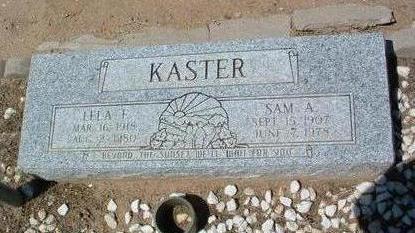 KASTER, LELA F. - Yavapai County, Arizona   LELA F. KASTER - Arizona Gravestone Photos