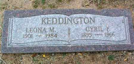 KEDDINGTON, LEONA M. - Yavapai County, Arizona | LEONA M. KEDDINGTON - Arizona Gravestone Photos