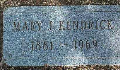 KENDRICK, MARY J. - Yavapai County, Arizona   MARY J. KENDRICK - Arizona Gravestone Photos