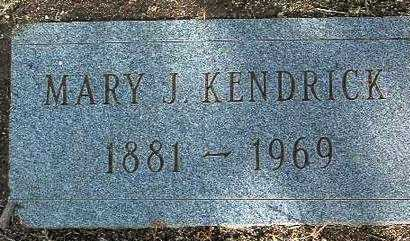 KENDRICK, MARY J. - Yavapai County, Arizona | MARY J. KENDRICK - Arizona Gravestone Photos