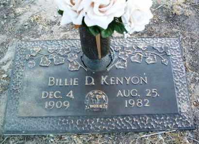KENYON, BILLIE D. - Yavapai County, Arizona | BILLIE D. KENYON - Arizona Gravestone Photos