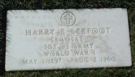 KERFOOT, HARRY E. - Yavapai County, Arizona   HARRY E. KERFOOT - Arizona Gravestone Photos
