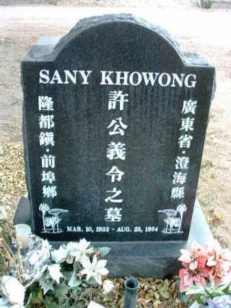 KHOWONG, SANY - Yavapai County, Arizona | SANY KHOWONG - Arizona Gravestone Photos