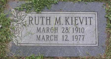 KIEVIT, RUTH M. - Yavapai County, Arizona   RUTH M. KIEVIT - Arizona Gravestone Photos