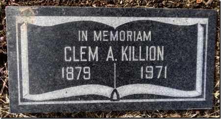 KILLION, CLEMENT  A. - Yavapai County, Arizona | CLEMENT  A. KILLION - Arizona Gravestone Photos