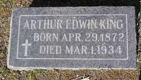 KING, ARTHUR EDWIN - Yavapai County, Arizona | ARTHUR EDWIN KING - Arizona Gravestone Photos