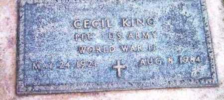 KING, CECIL - Yavapai County, Arizona   CECIL KING - Arizona Gravestone Photos
