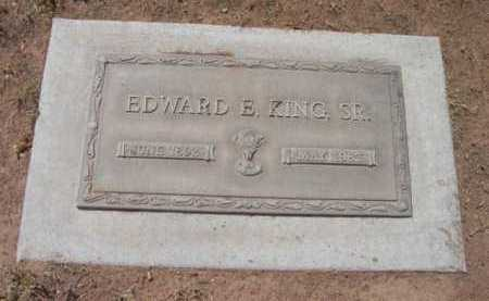 KING, EDWARD E., SR. - Yavapai County, Arizona   EDWARD E., SR. KING - Arizona Gravestone Photos