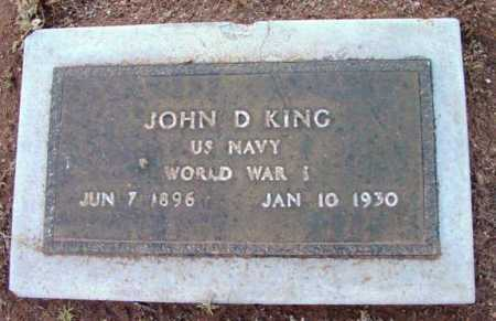 KING, JOHN D. - Yavapai County, Arizona | JOHN D. KING - Arizona Gravestone Photos
