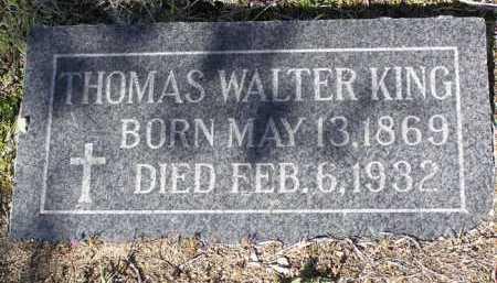 KING, THOMAS WALTER - Yavapai County, Arizona   THOMAS WALTER KING - Arizona Gravestone Photos
