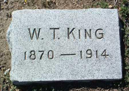 KING, W. T. - Yavapai County, Arizona   W. T. KING - Arizona Gravestone Photos
