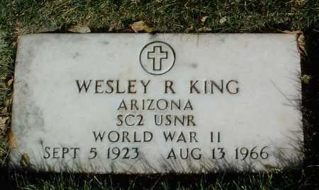KING, WESLEY R. - Yavapai County, Arizona   WESLEY R. KING - Arizona Gravestone Photos