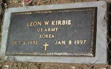 KIRBIE, LEON WESLEY - Yavapai County, Arizona   LEON WESLEY KIRBIE - Arizona Gravestone Photos
