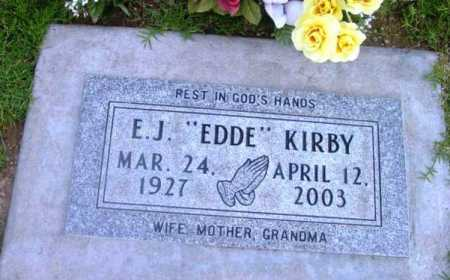 KIRBY, E. J.  (EDDE) - Yavapai County, Arizona | E. J.  (EDDE) KIRBY - Arizona Gravestone Photos