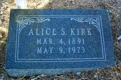 WILSON KIRK, ALICE SARAH - Yavapai County, Arizona | ALICE SARAH WILSON KIRK - Arizona Gravestone Photos