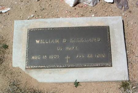 KIRKLAND, WILLIAM D. - Yavapai County, Arizona   WILLIAM D. KIRKLAND - Arizona Gravestone Photos