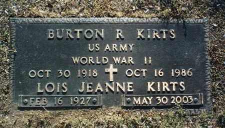 KIRTS, BURTON RICHARD - Yavapai County, Arizona | BURTON RICHARD KIRTS - Arizona Gravestone Photos