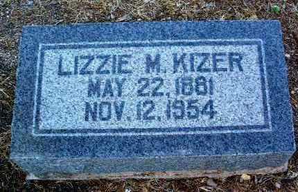 KIZER, ELIZABETH M. (LIZZIE) - Yavapai County, Arizona | ELIZABETH M. (LIZZIE) KIZER - Arizona Gravestone Photos