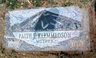 KLEMMEDSON, FAITH E. - Yavapai County, Arizona | FAITH E. KLEMMEDSON - Arizona Gravestone Photos