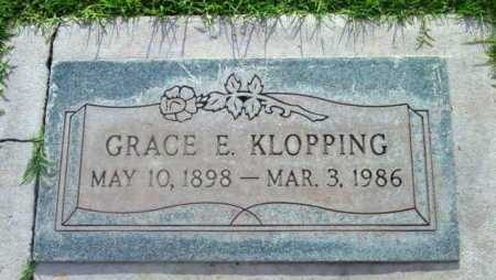 LEWIS KLOPPING, GRACE E. - Yavapai County, Arizona | GRACE E. LEWIS KLOPPING - Arizona Gravestone Photos