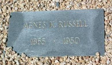 KLOS RUSSELL, AGNES K. - Yavapai County, Arizona | AGNES K. KLOS RUSSELL - Arizona Gravestone Photos