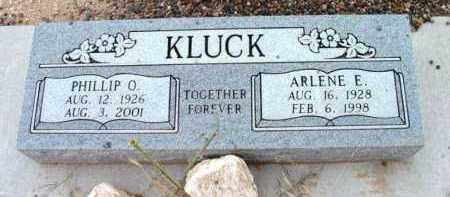 KLUCK, PHILLIP OLIVER - Yavapai County, Arizona   PHILLIP OLIVER KLUCK - Arizona Gravestone Photos