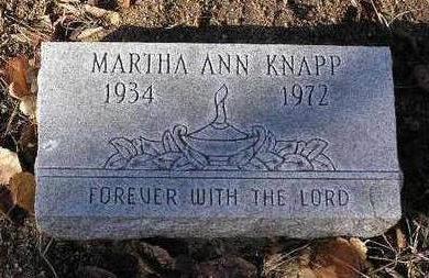DERROSSETT KNAPP, MARTHA ANN - Yavapai County, Arizona | MARTHA ANN DERROSSETT KNAPP - Arizona Gravestone Photos