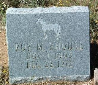 KNOUSE, ROY MILTON - Yavapai County, Arizona   ROY MILTON KNOUSE - Arizona Gravestone Photos