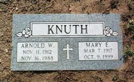 KNUTH, ARNOLD HERMAN WILLIAM - Yavapai County, Arizona | ARNOLD HERMAN WILLIAM KNUTH - Arizona Gravestone Photos