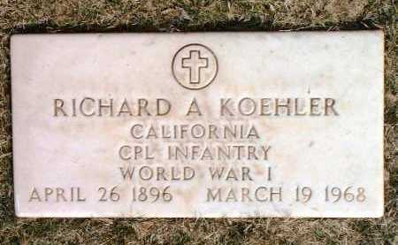 KOEHLER, RICHARD A. - Yavapai County, Arizona | RICHARD A. KOEHLER - Arizona Gravestone Photos
