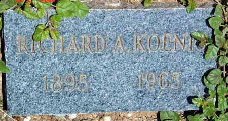 KOENIG, RICHARD A. - Yavapai County, Arizona   RICHARD A. KOENIG - Arizona Gravestone Photos