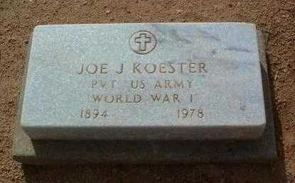 KOESTER, JOHN J. (JOE) - Yavapai County, Arizona | JOHN J. (JOE) KOESTER - Arizona Gravestone Photos