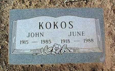 KOKOS, JOHN - Yavapai County, Arizona | JOHN KOKOS - Arizona Gravestone Photos