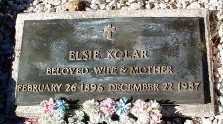 KOLAR, ELSIE - Yavapai County, Arizona | ELSIE KOLAR - Arizona Gravestone Photos