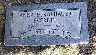 KOLHAUER, ANNA M. - Yavapai County, Arizona | ANNA M. KOLHAUER - Arizona Gravestone Photos