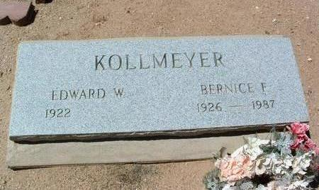 SIEPKER KOLLMEYER, BERNICE F. - Yavapai County, Arizona | BERNICE F. SIEPKER KOLLMEYER - Arizona Gravestone Photos