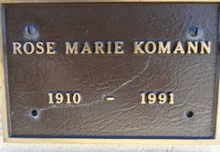 KOMANN, ROSE MARIE - Yavapai County, Arizona | ROSE MARIE KOMANN - Arizona Gravestone Photos