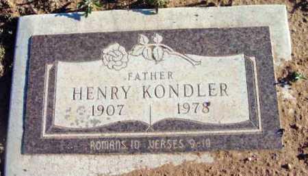 KONDLER, HENRY - Yavapai County, Arizona | HENRY KONDLER - Arizona Gravestone Photos