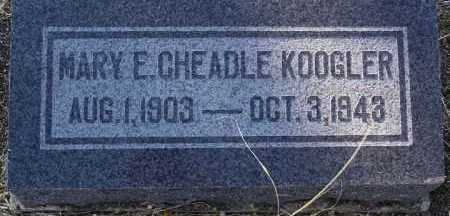 CHEADLE KOOGLER, MARY E - Yavapai County, Arizona   MARY E CHEADLE KOOGLER - Arizona Gravestone Photos
