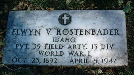 KOSTENBADER, ELWYN V. - Yavapai County, Arizona   ELWYN V. KOSTENBADER - Arizona Gravestone Photos