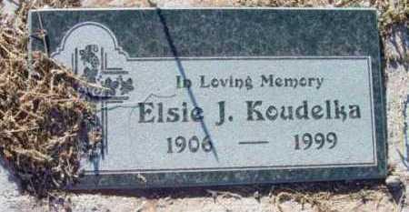 KOUDELKA, ELSIE J. - Yavapai County, Arizona   ELSIE J. KOUDELKA - Arizona Gravestone Photos
