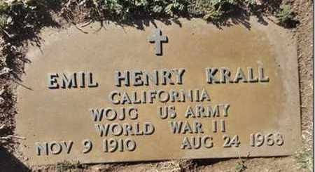KRALL, EMIL HENRY - Yavapai County, Arizona | EMIL HENRY KRALL - Arizona Gravestone Photos